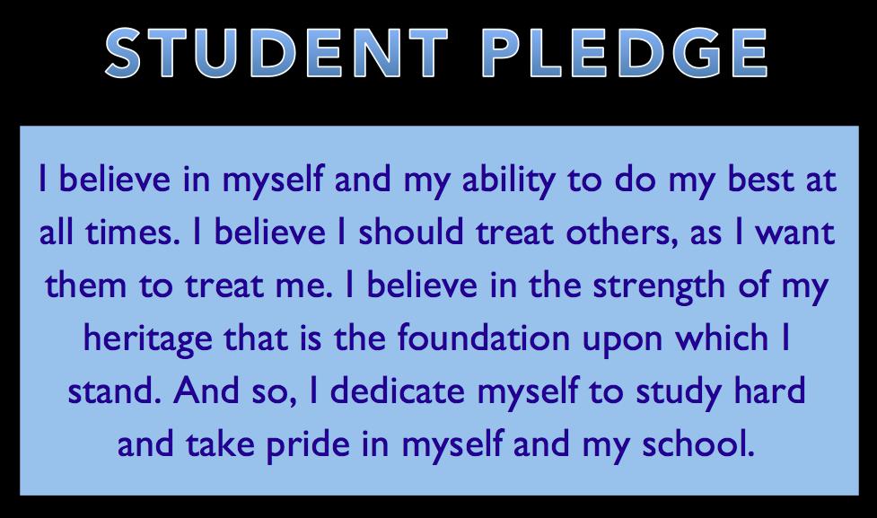 Student Pledge   mrREYES.org